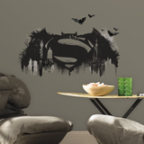 Batman v Superman Logo Peel and Stick Giant Wall Graphic Wall Decal