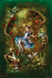 Alice Floating In Curved Space Posters
