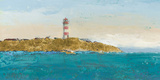 Lighthouse Seascape I v3 Crop II Prints by James Wiens