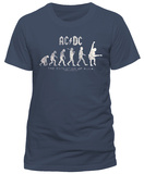 AC/DC- Evolution Of Rock (Slim Fit) Camisetas