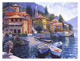 Lake Como Landing Posters by Howard Behrens