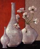 Silverleaf And Poppies I Prints by Janet Kruskamp