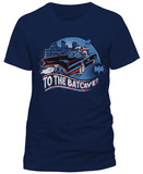 Batman Classic TV- 1966 To The Batcave (Slim Fit) Shirts