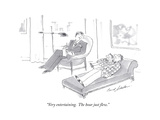 """Very entertaining.  The hour just flew."" - Cartoon Premium Giclee Print by Bernard Schoenbaum"