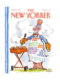 The New Yorker Cover - July 4, 1988 Regular Giclee Print by Lee Lorenz
