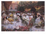 Georges Jeanniot - Le Diner A' L'Hotel Ritz Prints by Pierre-Georges Jeanniot