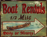 Boat Rentals Art by Grace Pullen