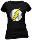 Juniors: The Flash- Distressed Logo Koszulka
