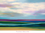 Purple Horizon Art by Mary Johnston