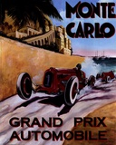 Monte Carlo Grand Prix Poster by Chris Flanagan