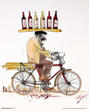 Ralph Steadman- Wine & Bicycle Print by Ralph Steadman