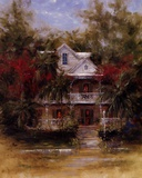 Keywest Cottage II Print by J. Martin