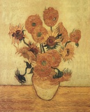 Sunflowers On Gold Prints by Vincent van Gogh