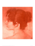 Study of a Female Head Giclee Print by Franz von Stuck