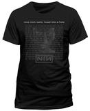 Nine Inch Nails- Head Like A Hole Lyrics (Slim Fit) Camiseta