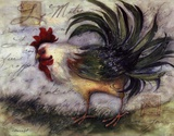 Le Rooster IV Art by Susan Winget