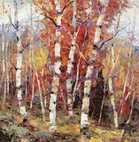 Birch Colors 4 Print by Dean Bradshaw