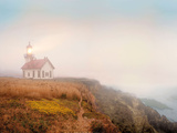 Point Cabrillo Lighthouse Print by Chris Honeysett