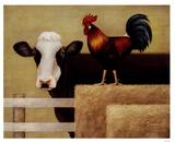 Kuh auf dem Bauernhof Kunst von Lowell Herrero