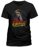 David Bowie- Distressed Sizzle Logo Vêtement