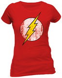 Juniors: The Flash- Distressed Logo T-Shirts