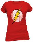 Juniors: The Flash- Distressed Logo Tričko