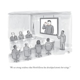 """We see strong evidence that North Korea has developed atomic hot wings."" - New Yorker Cartoon Premium Giclee Print by Paul Noth"