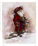 Olde World Santa Prints by Peggy Abrams