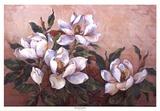 Magnolieninspiration Kunstdruck von Barbara Mock