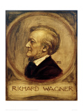 Richard Wagner, Composer, 1902 Giclee Print by Franz von Stuck