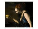 """Role in """"Circe"""" by Pedro Calderon de la Barca, 1912/13 Gicléetryck av Franz von Stuck"""