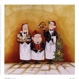 Christmas Waiters Posters by Tracy Flickinger