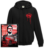 Zip Hoodie: Batman vs. Superman- Anti-Superman Poster (Front/Back) Felpa con cappuccio con chiusura a zip