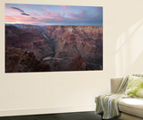 Sunset Above the Confluence of the Colorado River and the Little Colorado River Vægplakat af Bill Hatcher