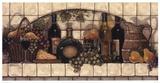 Vins, fruits et tourte au fromage Affiches par Janet Kruskamp