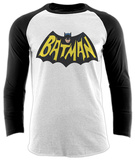 Batman- 1966 Logo (Raglan) T-skjorte