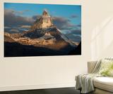 The Matterhorn Seen from Beside the Gorner Glacier Vægplakat af Alex Treadway
