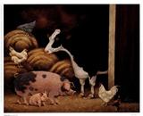 Familienfarm Kunstdrucke von Lowell Herrero