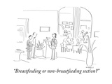 """Breastfeeding or non-breastfeeding section?"" - Cartoon Premium Giclee Print by Liza Donnelly"