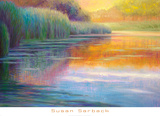 Autumn Pond Art by Susan Sarback