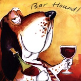 Bar Hound Art by Tracy Flickinger