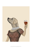 Yellow Labrador Wine Snob Posters by  Fab Funky