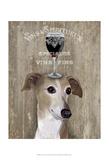 Dog Au Vin Greyhound Affiches par  Fab Funky