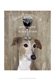Dog Au Vin Greyhound Prints by  Fab Funky