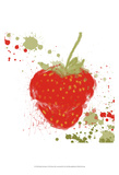 Modern Strawberry Prints by Irena Orlov