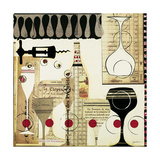 Deco Vino II Prints by Liz Jardine