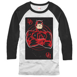 Long Sleeve: Daredevil- Face Card (Raglan) T-shirts