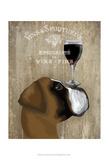 Dog Au Vin Boxer Schilderij van  Fab Funky