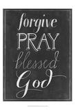 Chalkboard Faith II Poster by Grace Popp