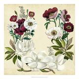 Magnolia & Poppy Wreath I Giclee Print by Naomi McCavitt